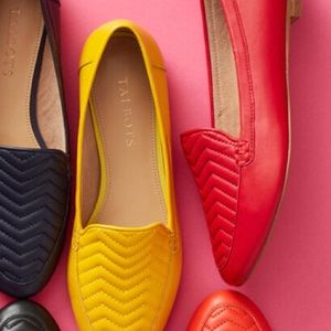 Talbots | Red Chevron Loafers
